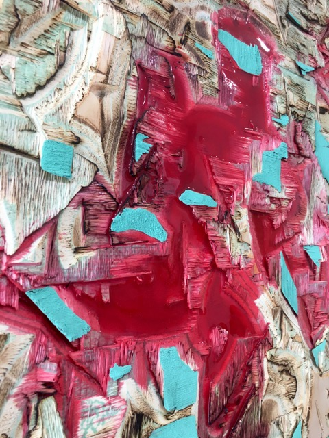 Red Resin And Verdigris 2